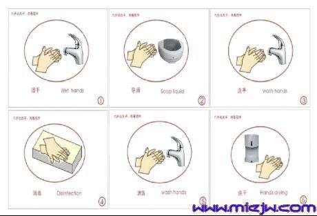 车间洗手步骤图片大全